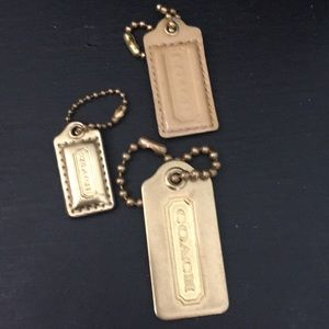 COACH VINTAGE LEATHER METAL KEYCHAINS PURSE FOBS